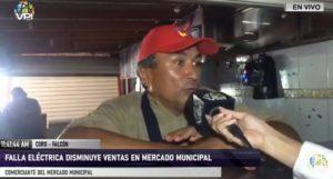 Mercado municipal de Coro en crisis ante constantes cortes eléctricos