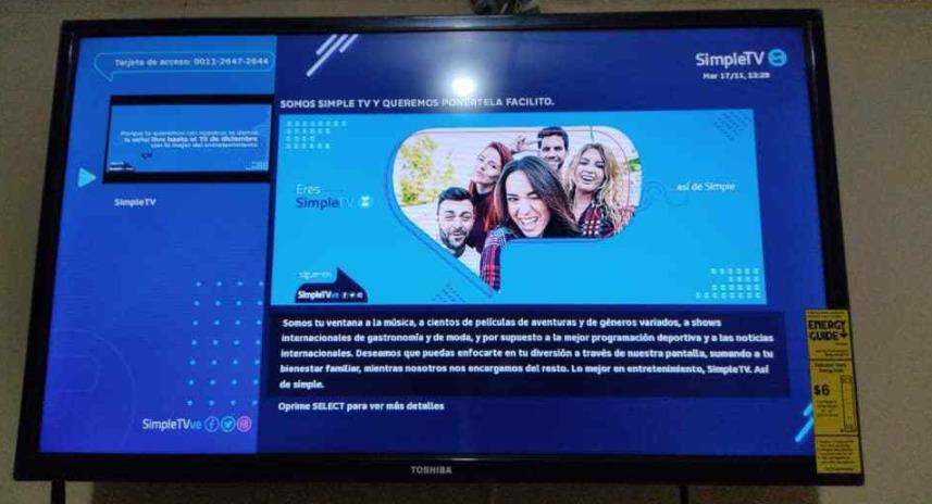 ¡Nuevos precios! SimpleTV publicó reajustes a sus tarifas