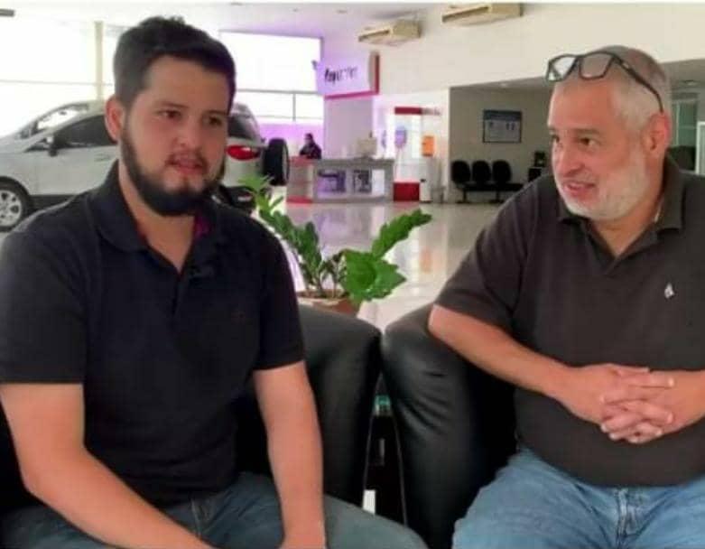 José Gregorio y su hijo. Foto: Captura de pantalla.